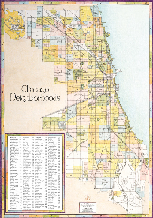 Chicago Neighborhood Map  1st Edition