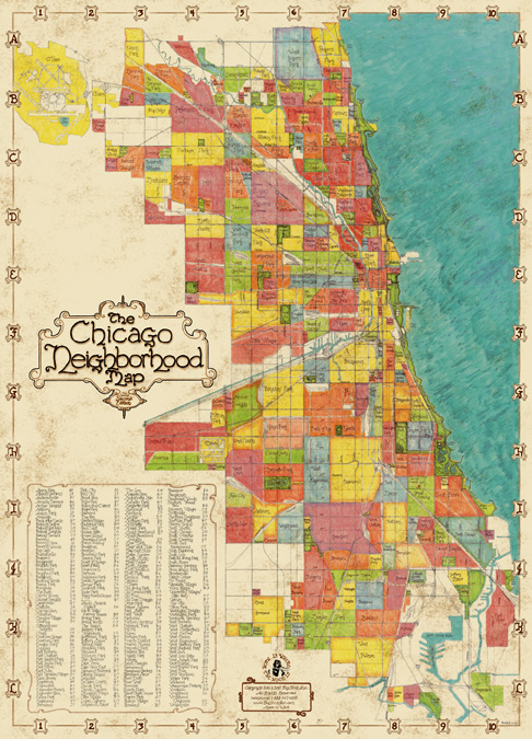 Chicago Neighborhood Map 2nd Version, 2nd Edition