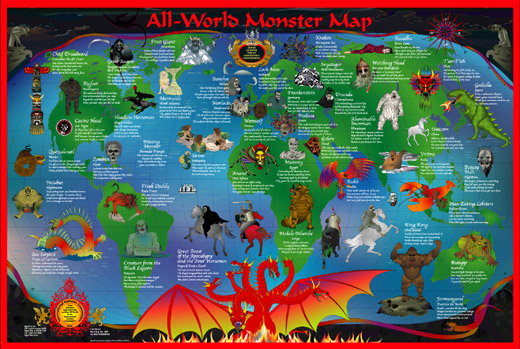 Welcome To BigStick Inc AllWorld Monster Map Larger View Of Map - All world map